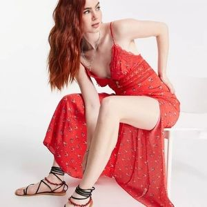 NWT Free People Out & About Maxi Slip Dress